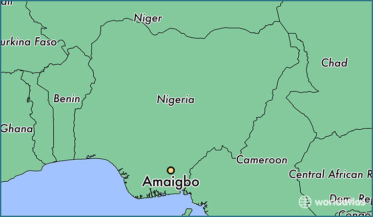 map showing the location of Amaigbo