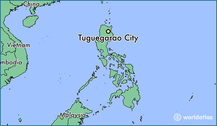 map showing the location of Tuguegarao City