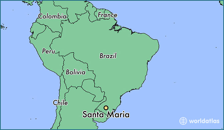 Santa Maria Map Where is Santa Maria, Brazil? / Santa Maria, Rio Grande do Sul Map  Santa Maria Map
