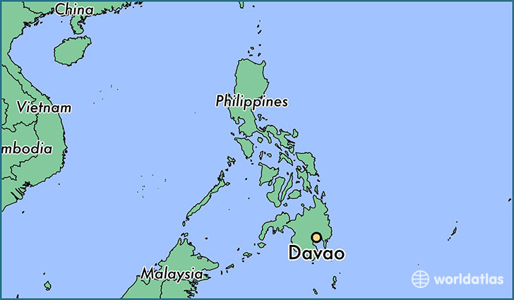 map showing the location of Davao