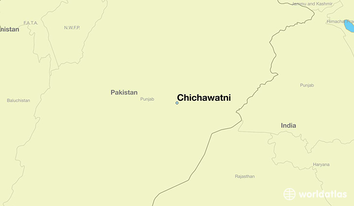 map showing the location of Chichawatni