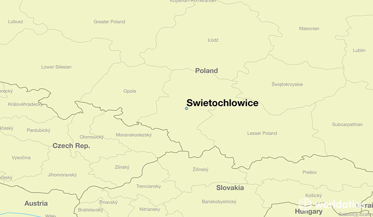 map showing the location of Swietochlowice