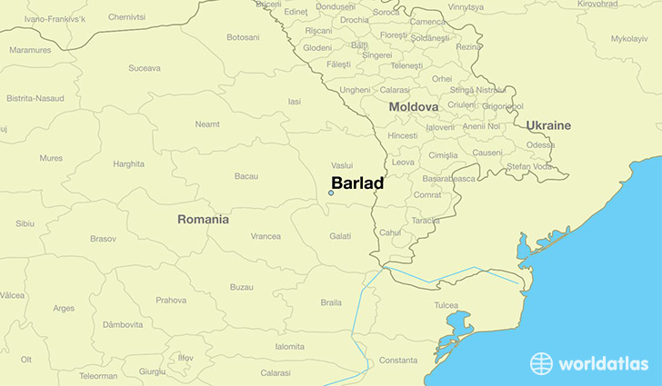 map showing the location of Barlad