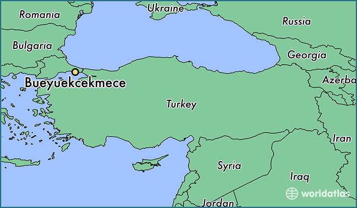 map showing the location of Bueyuekcekmece