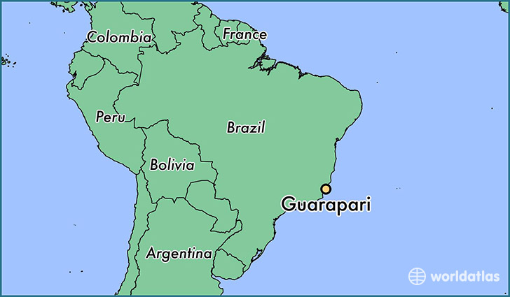 map showing the location of Guarapari