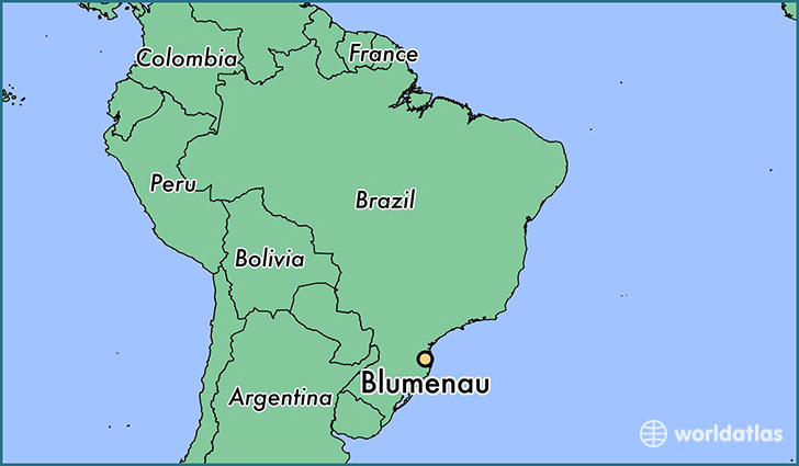 map showing the location of Blumenau
