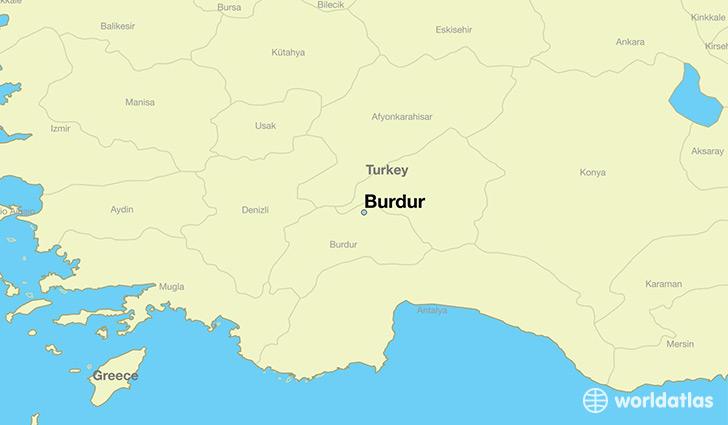 Where is Burdur Turkey Burdur Burdur Map WorldAtlascom