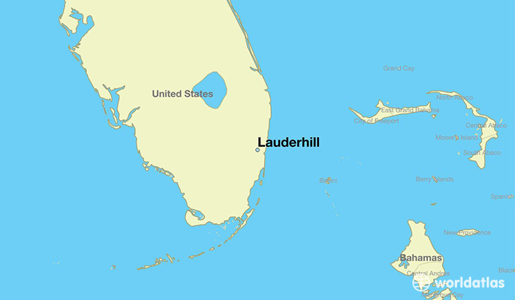 map showing the location of Lauderhill