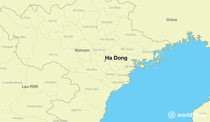 map showing the location of Ha Dong