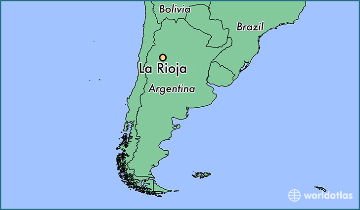 Where is La Rioja Argentina La Rioja La Rioja Map WorldAtlascom