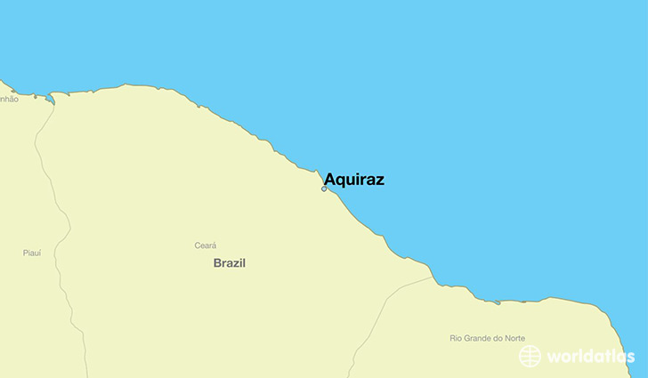 map showing the location of Aquiraz