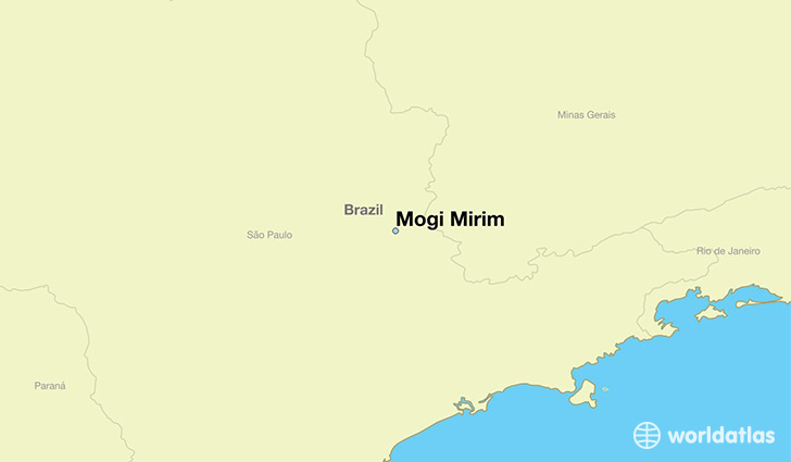 map showing the location of Mogi Mirim