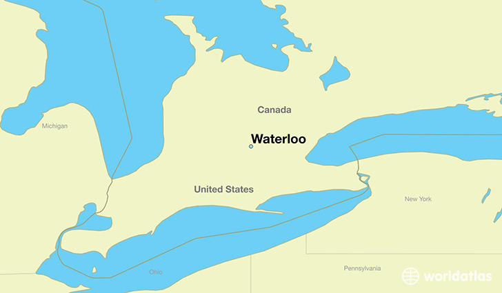 Where Is Waterloo ON Where Is Waterloo ON Located In The - Canada map location