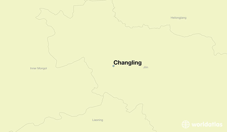 map showing the location of Changling