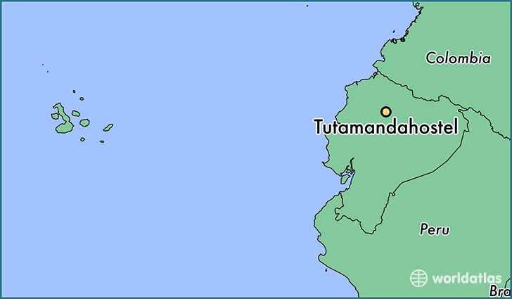 map showing the location of Tutamandahostel
