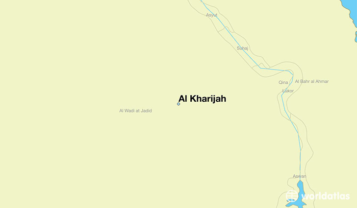 map showing the location of Al Kharijah