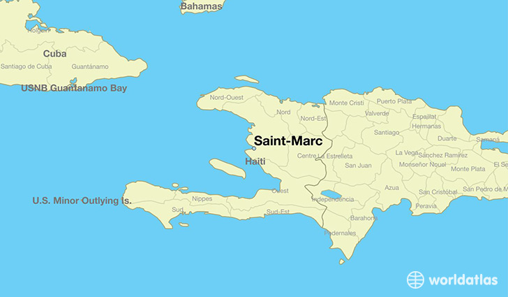 Where is saint marc haiti saint marc artibonite map map showing the location of saint marc gumiabroncs Choice Image