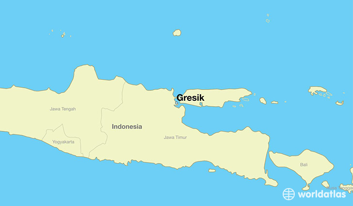 map showing the location of Gresik