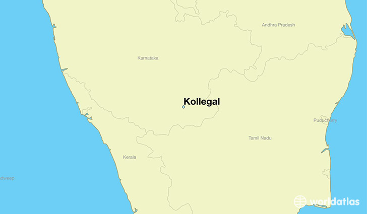map showing the location of Kollegal