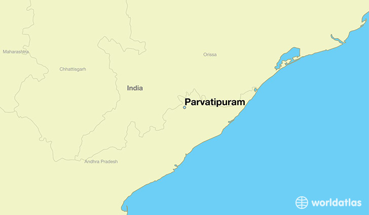 map showing the location of Parvatipuram