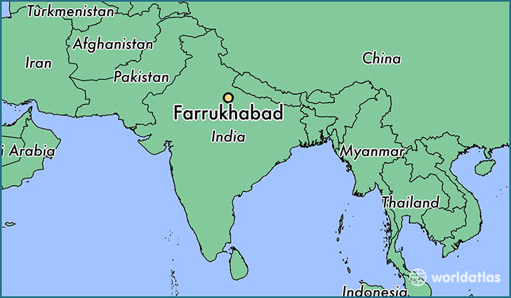map showing the location of Farrukhabad