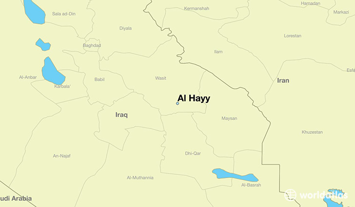 map showing the location of Al Hayy
