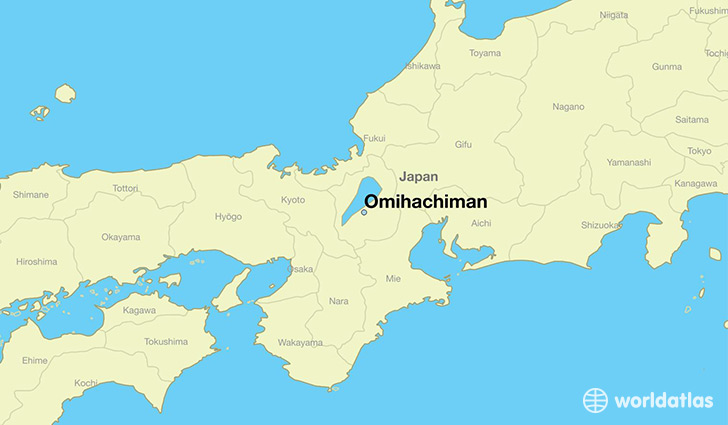 map showing the location of Omihachiman