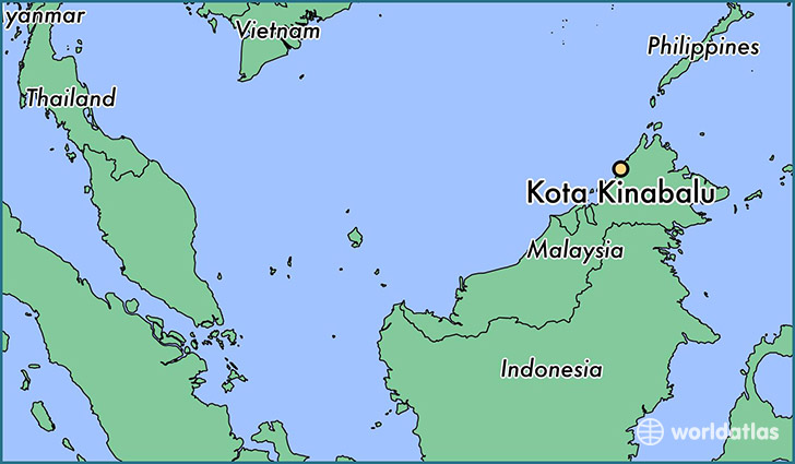 map showing the location of Kota Kinabalu