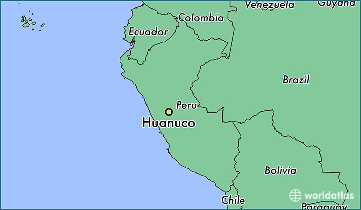 map showing the location of Huanuco