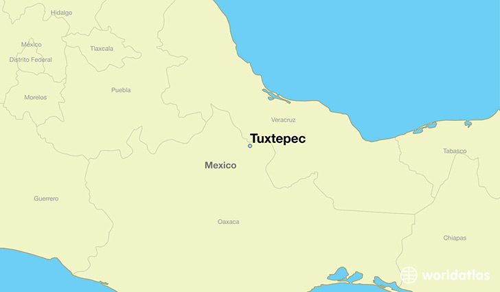 map showing the location of Tuxtepec