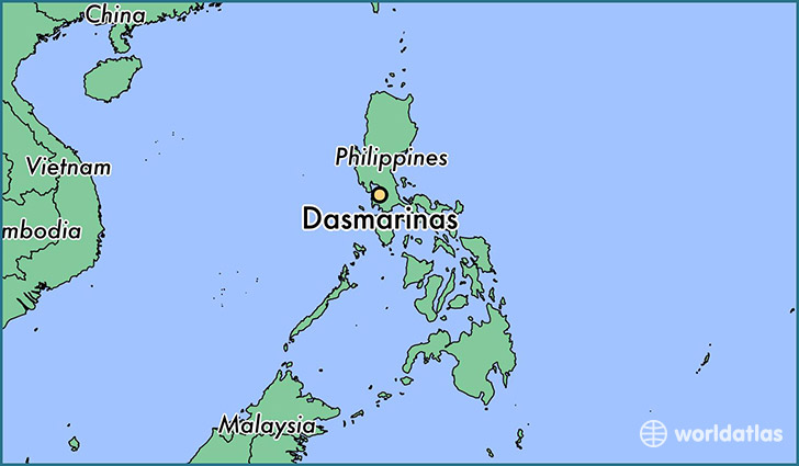 map showing the location of Dasmarinas