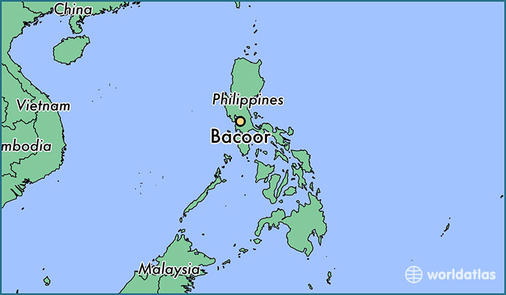 map showing the location of Bacoor