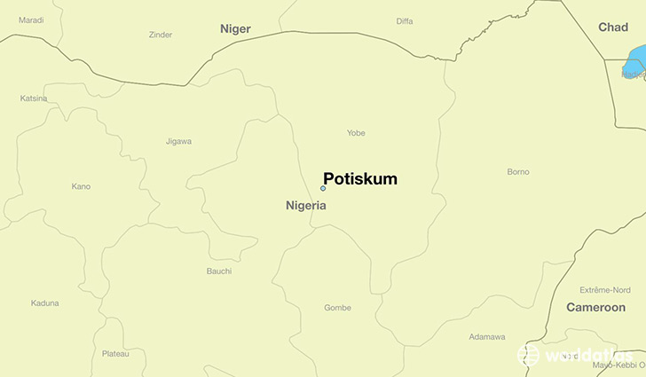map showing the location of Potiskum