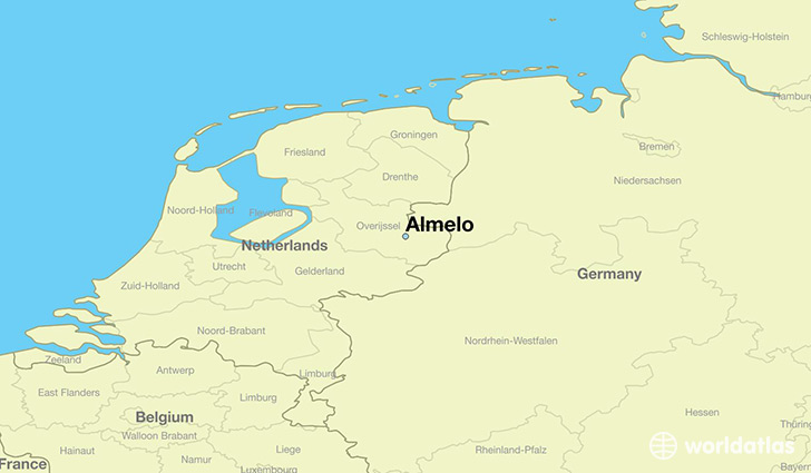 map showing the location of Almelo