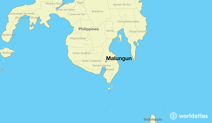 map showing the location of Malungun