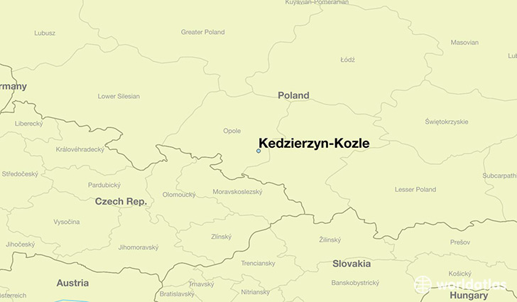 map showing the location of Kedzierzyn-Kozle