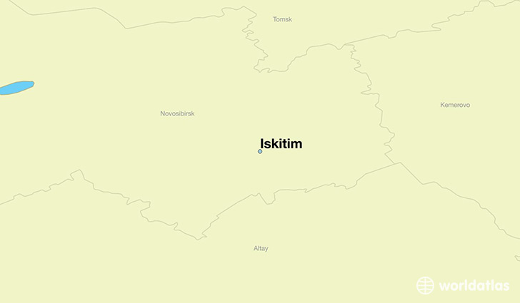 map showing the location of Iskitim