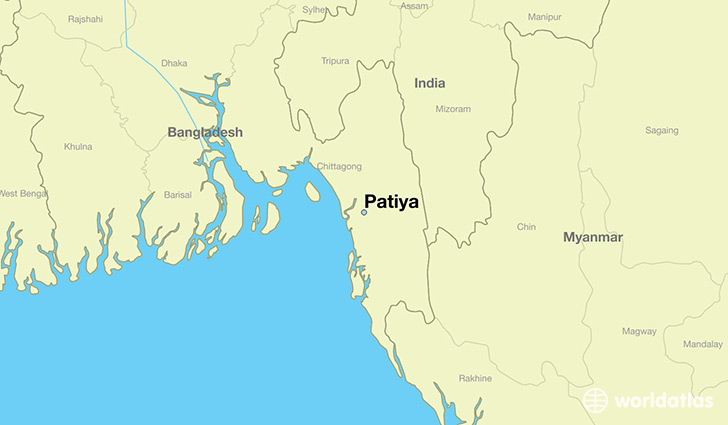 map showing the location of Patiya