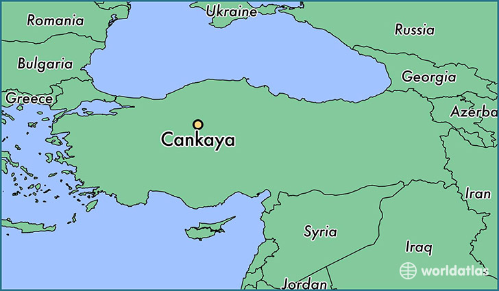 map showing the location of Cankaya