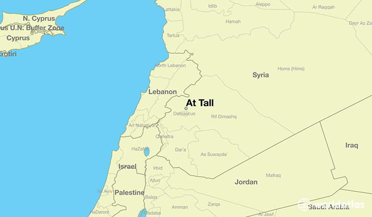 map showing the location of At Tall