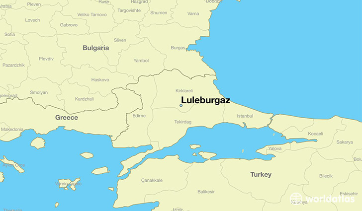 map showing the location of Luleburgaz