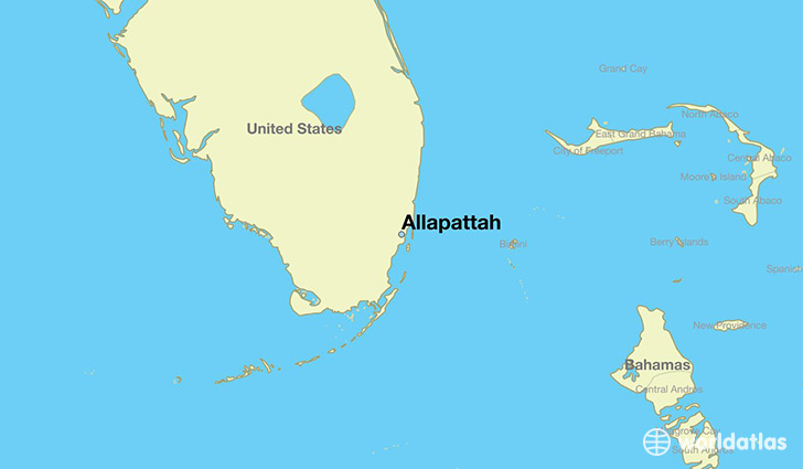 map showing the location of Allapattah
