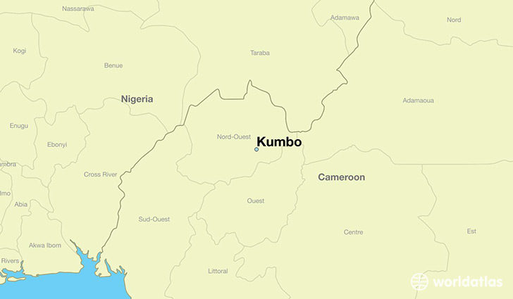 map showing the location of Kumbo
