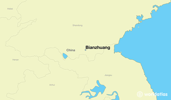 map showing the location of Bianzhuang