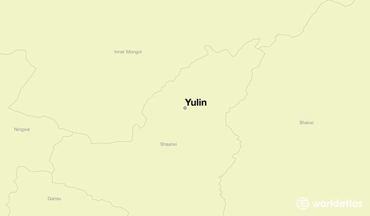 map showing the location of Yulin
