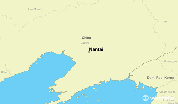 map showing the location of Nantai