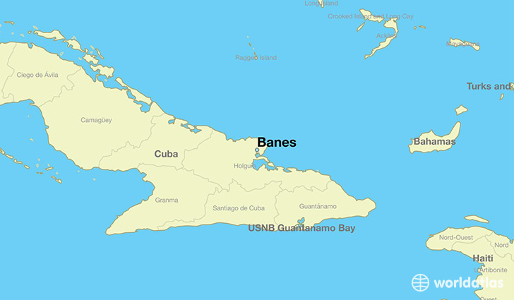 map showing the location of Banes