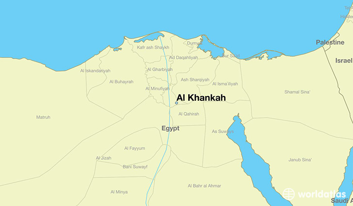 map showing the location of Al Khankah