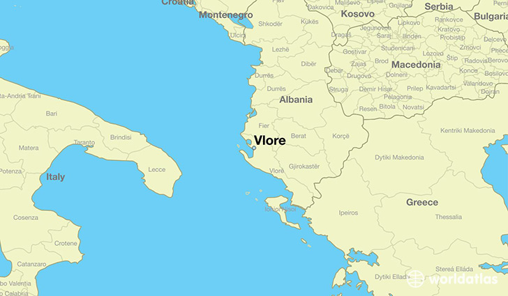 ... is Vlore, Albania Located in The World? / Vlore Map - WorldAtlas.com