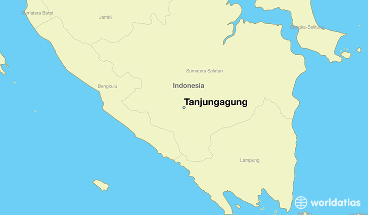 map showing the location of Tanjungagung